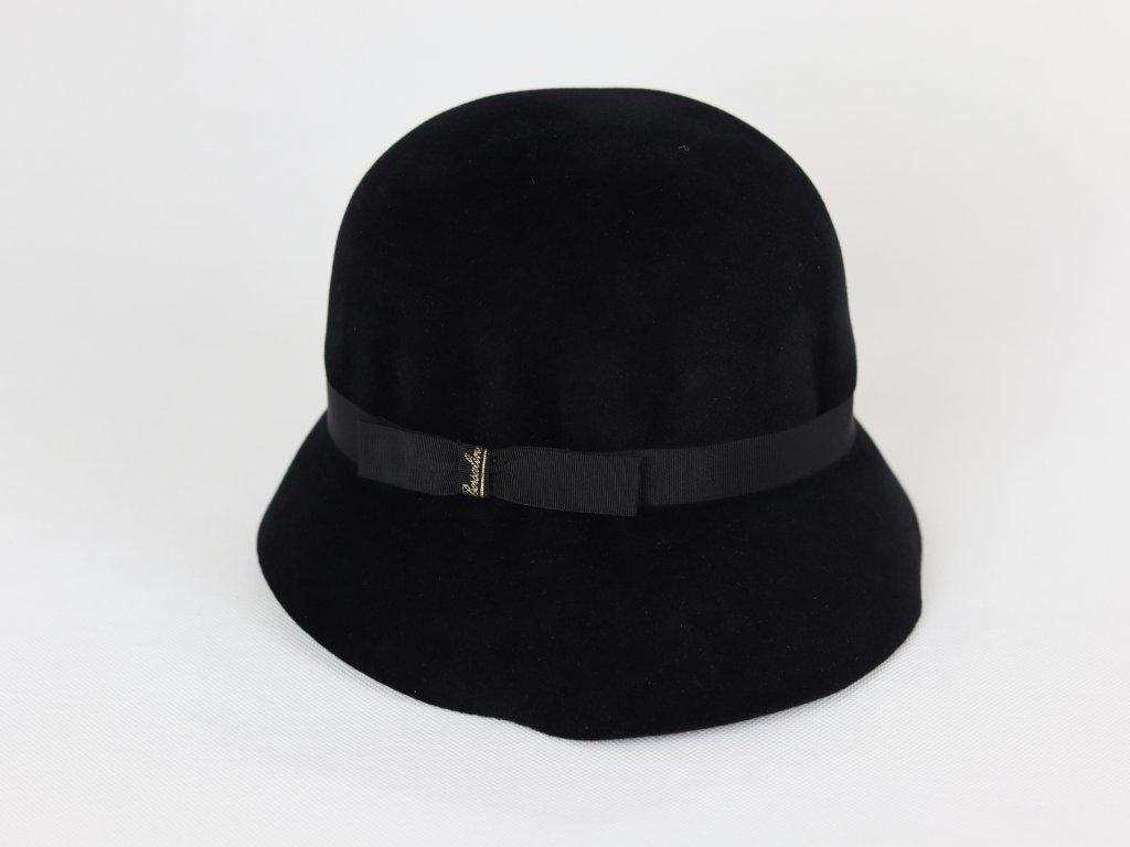 Borsalino Gatsby dámský černý klobouk velurový