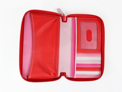 """Dámská kožená peněženka """"Mywalit"""" (červená/kombinace barev)"""
