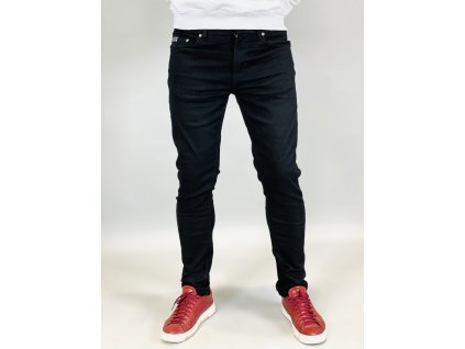 Versace Jeans Couture černé džíny se zlatým nápisem