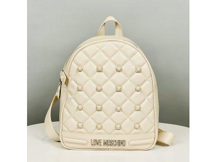 Velký bílý batoh Love Moschino