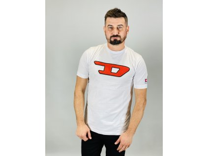 Bíle pánské tričko DIESEL