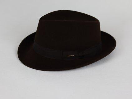 Stetson Beaver Fedora, tmavě hnědý klobouk