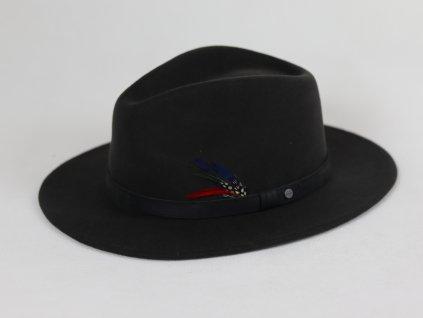 Stetson Vitafelt Traveler šedivý klobouk s koženým páskem