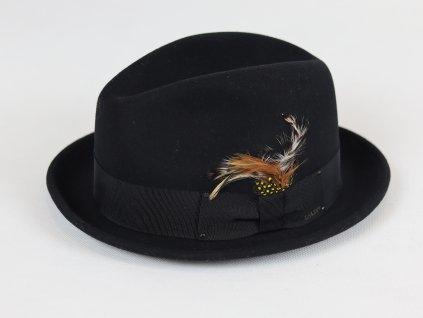 Bailey Tino Mini Fedora černý, voděodolný klobouk