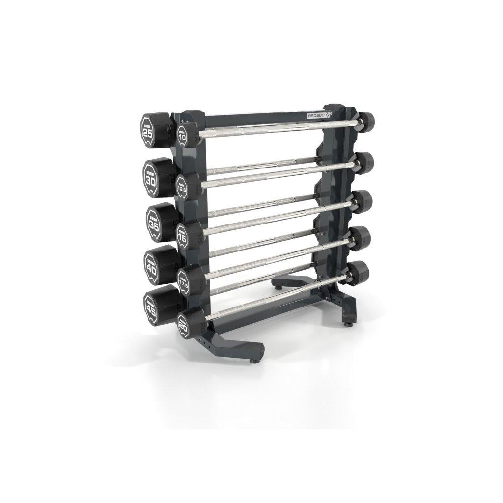 SADA obouručních činek 10 – 45 kg + stojan Escape_01