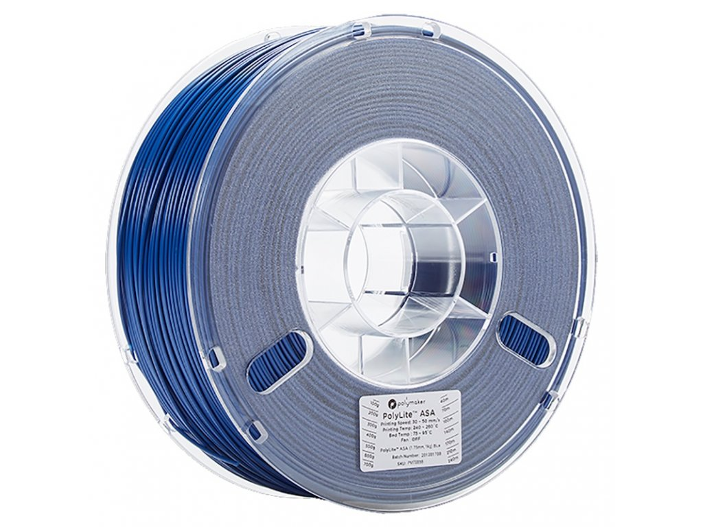 PolyLite ASA Blue 175 Spool Picture Asymmetric