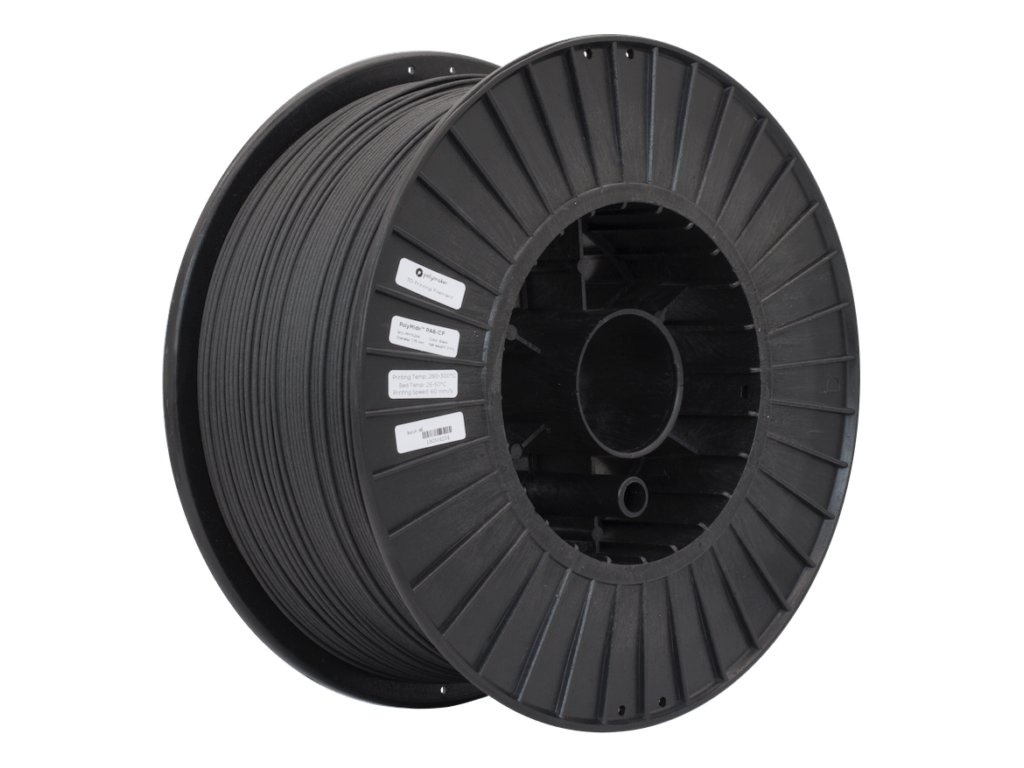 Polymaker PolyMide PA6 CF Black 175 Spool Picture Astmmetric 700x700