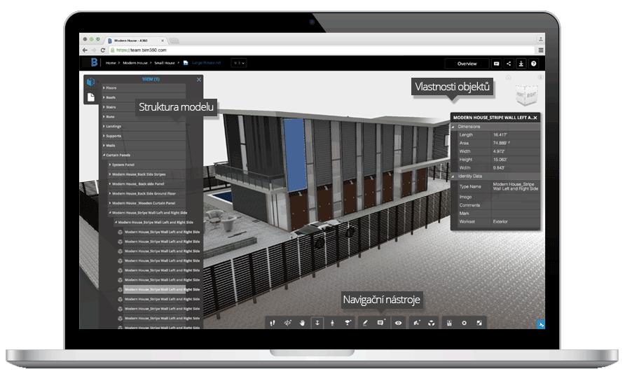 BIM 360 TEAM prohlížeč modelů