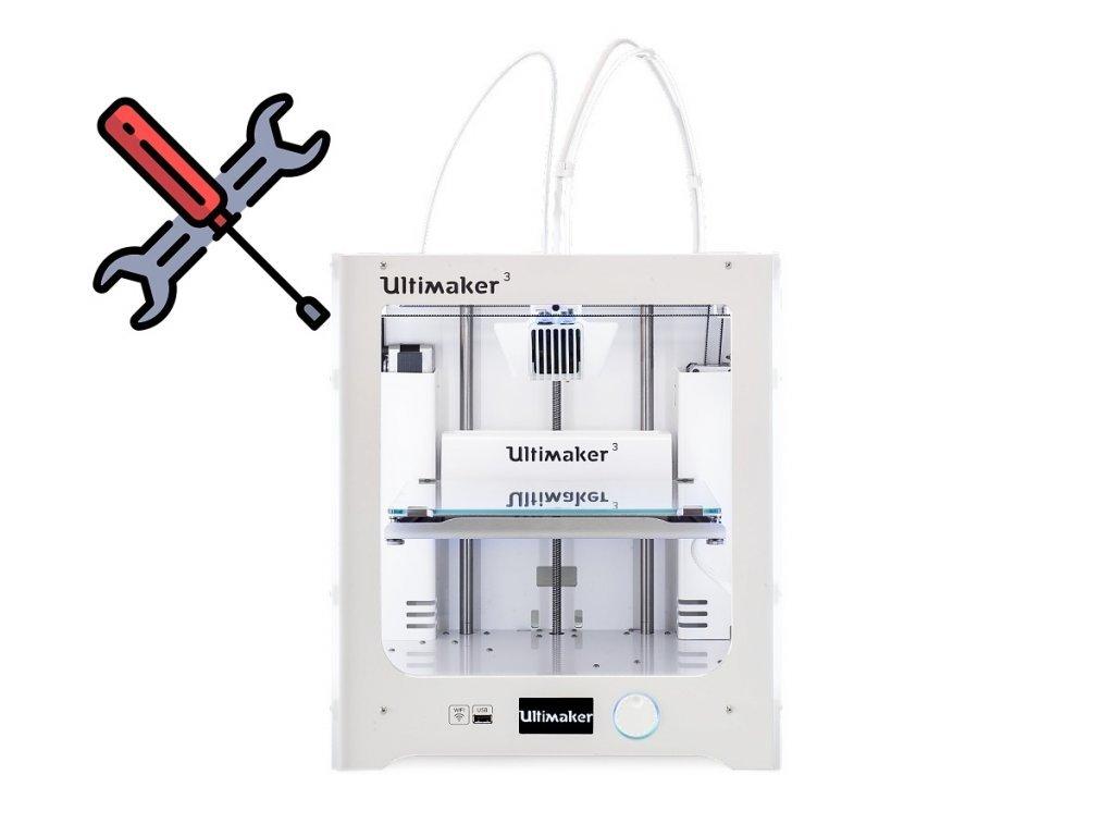 Repasovanie 3D tlačiarne Ultimaker 3/3 Extended