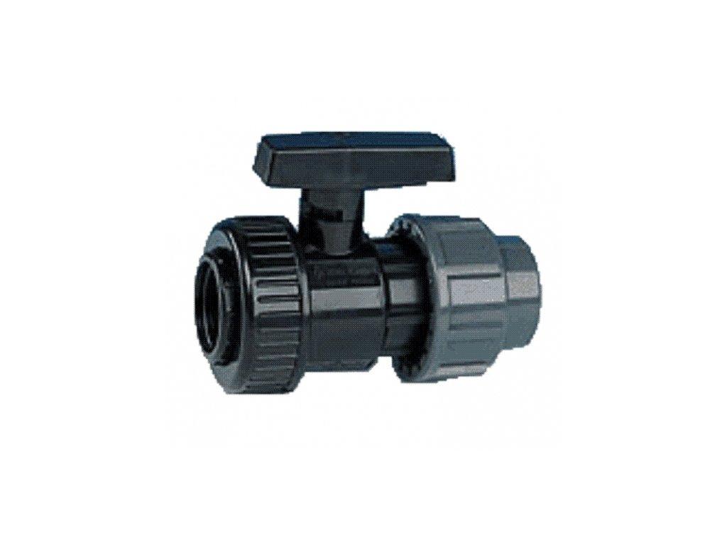 """PVC kulový ventil 32 mm x 1"""""""