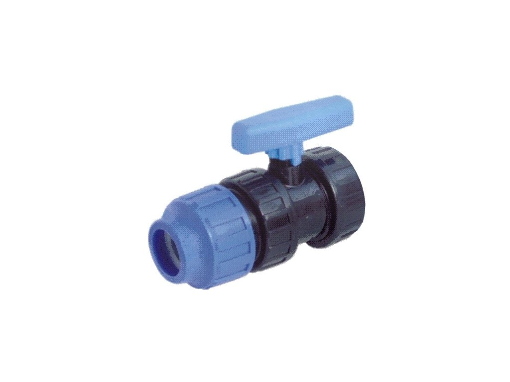"PP kulový ventil 25 mm x 3/4"""