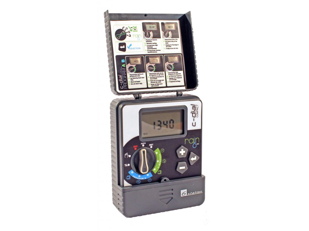 rain c dial 9 volt indoor electronic programmer for irrigation systems