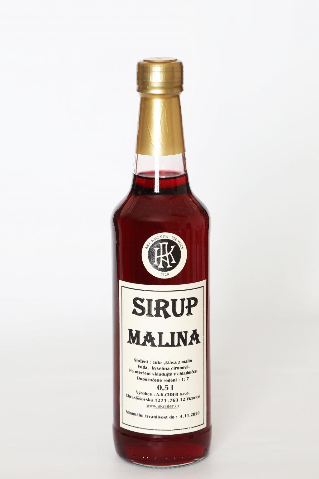 Malinový sirup 0,5l