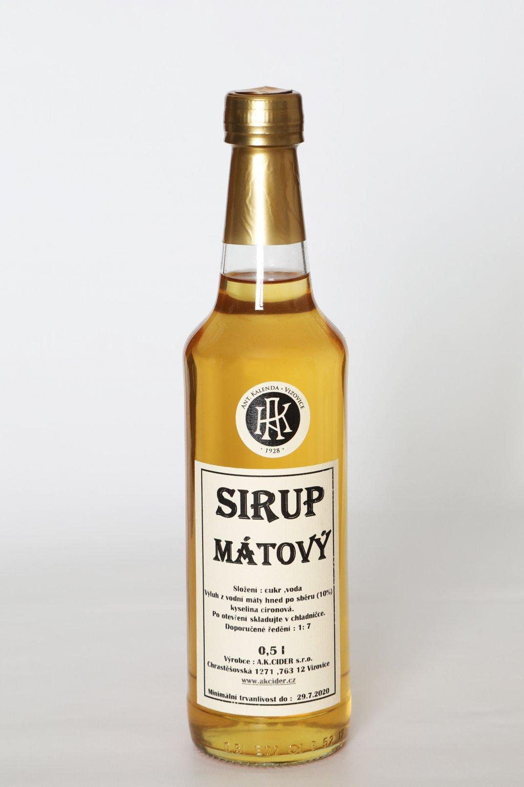 Mátový sirup 0,5l