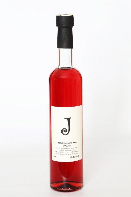 """""""J"""" Jahodové víno 0,5l"""