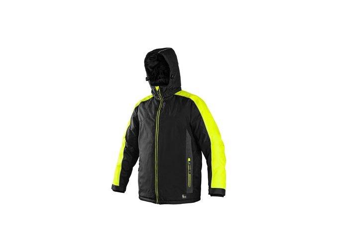 Bunda  CXS BRIGHTON, zimní, černo-žlutá