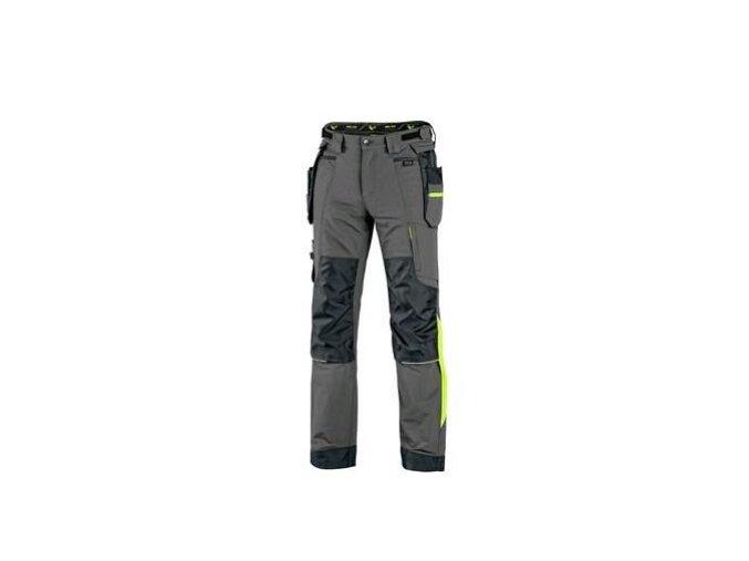 Kalhoty CXS NAOS pánské, šedo černé, HV žluté doplňky