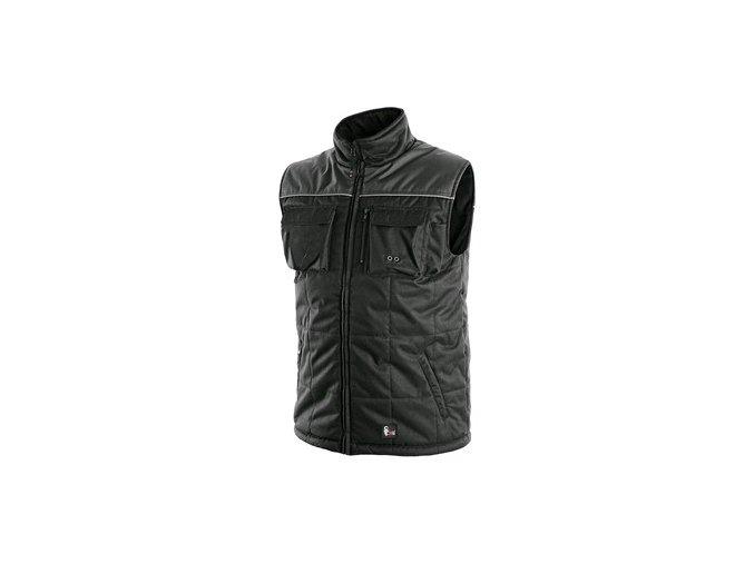 Pánská zimní vesta SEATTLE, černo-šedá