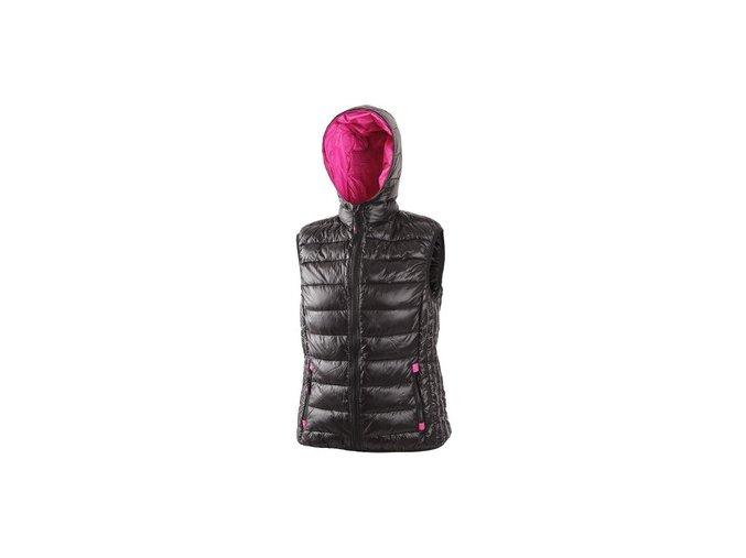 Dámská zimní vesta OMAK, černo-růžová