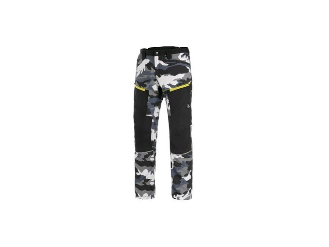 Kalhoty CXS DIXON, pánské, šedo-bílé (maskáč)