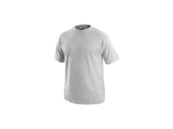 Tričko s krátkým rukávem DANIEL, světle šedý melír
