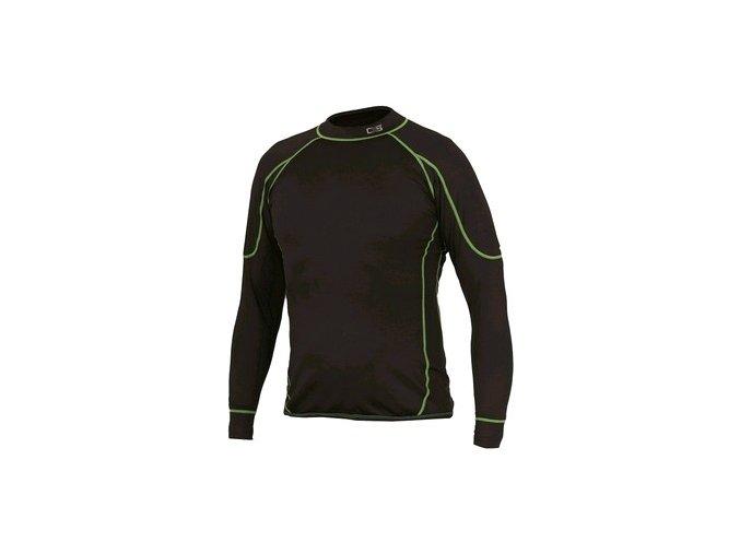 Dětské funkční tričko REWARD, dl. rukáv, černo-zelené