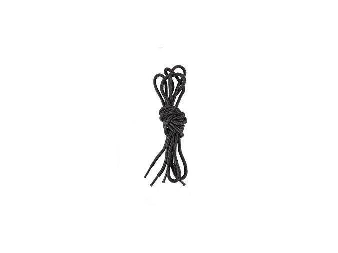 Tkaničky do obuvi, kulaté, 90 cm, černé