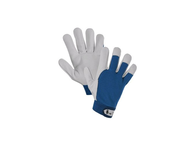Rukavice TECHNIK A, kombinované, modro-bílé