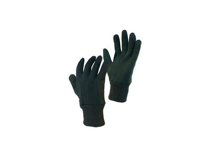 Textilní rukavice NOE, hnědé, vel. 10