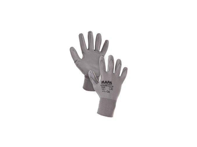 Povrstvené rukavice MAPA ULTRANE, šedé