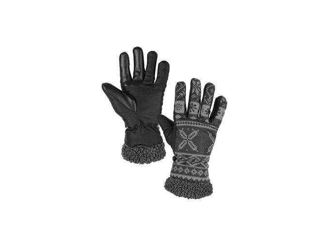 Rukavice zimní CXS FULLA, šedé s šedým potiskem, vel. 10