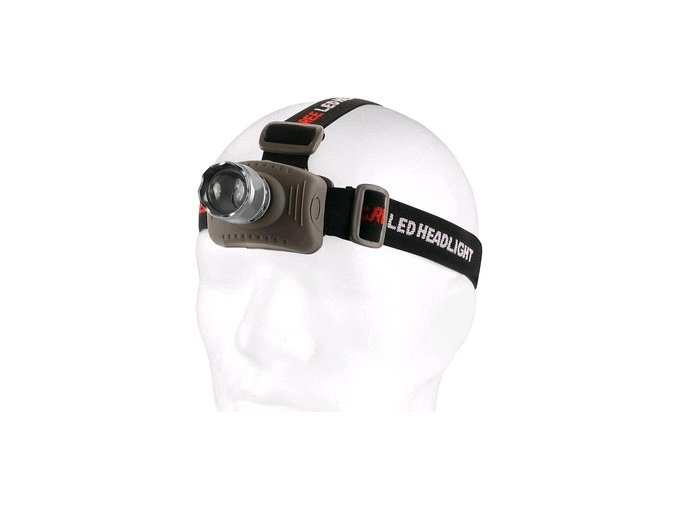LED čelovka s hliníkovým tělem