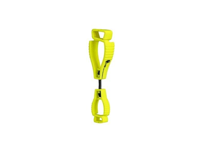 Klips pro zavěšení drobných předmětů na oděv, reflexní žlutá