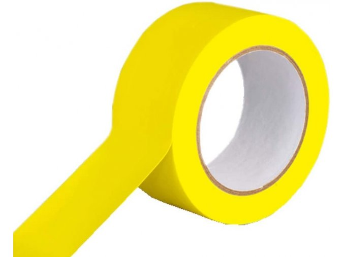 podlahová vyznačovací páska žlutá 50 mm x 33 m aldivex1