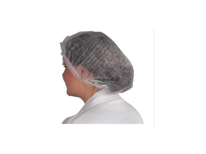Síťková čepice jednorázová bílá