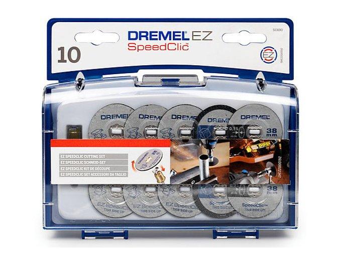 2 615 S69 0JA Dremel SC 690 sada řezných kotoučů + stopka SpeedClic 402SC Aldivex