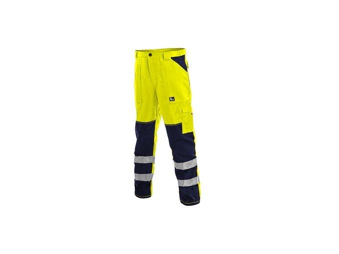 Kalhoty CXS NORWICH, výstražné, pánské, žluto-modré