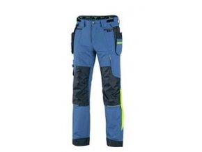 Kalhoty CXS NAOS pánské, modro modré, HV žluté doplňky