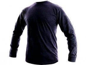 Pánské tričko s dlouhým rukávem PETR, tmavě modré