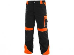 Kalhoty do pasu CXS SIRIUS BRIGHTON, černo-oranžová