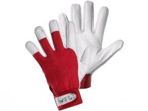 Kombinované rukavice TECHNIK, červeno-bílé