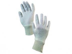 Textilní rukavice IPO, bílé
