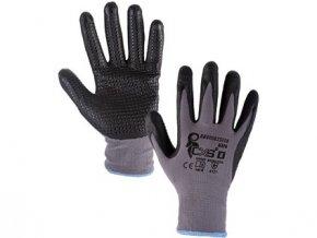Povrstvené rukavice NAPA, šedo-černé