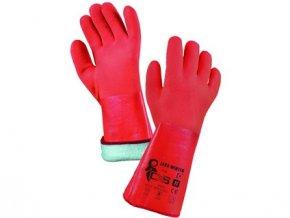 Rukavice ZARO WINTER, zimní, máčené v PVC, oranžové, vel. 11