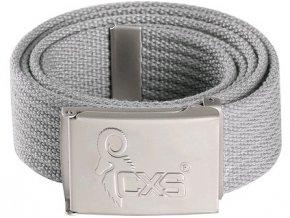 Opasek CXS KARUK, šedý, 3,5 cm, textilní, spona s logem CXS