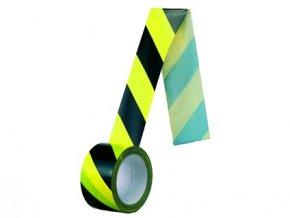 Samolepící páska, protisměrná, 60 mm, žluto-černá