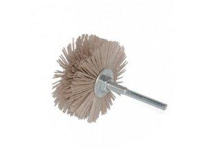 Abrasivní nylonový kartáč na drásání dřeva do vrtačky 80 x 35mm P120 aldivex
