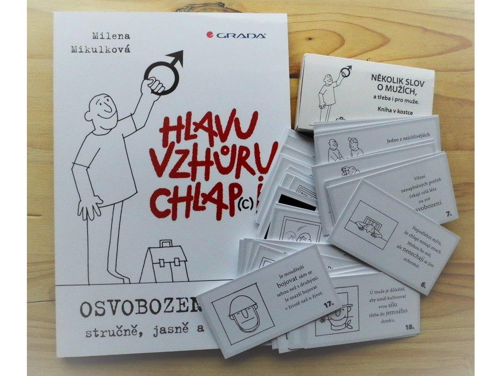 Sada kniha a karty pro muže