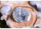 Andělský celestýn (drúza krystalů)