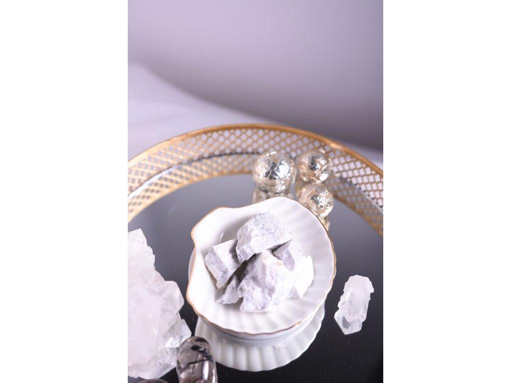 Uklidňující set surového magnezitu v pytlíčku (vhodný k meditaci, hezký dáreček)
